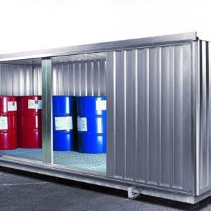 Contenedores modulares para el almacenamiento de productos químicos