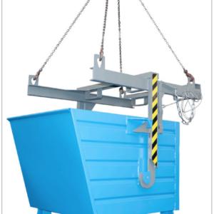 Volquete contenedor apilable de 900 l. (2000 kg) para carretilla. (BKT90).