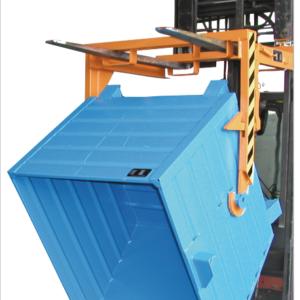 Volquete contenedor apilable de 1500 l. (2000 kg) para carretilla. (BKT150).