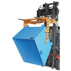 Volquete contenedor apilable de 550 l. (1000 kg) para carretilla. (BKT55).